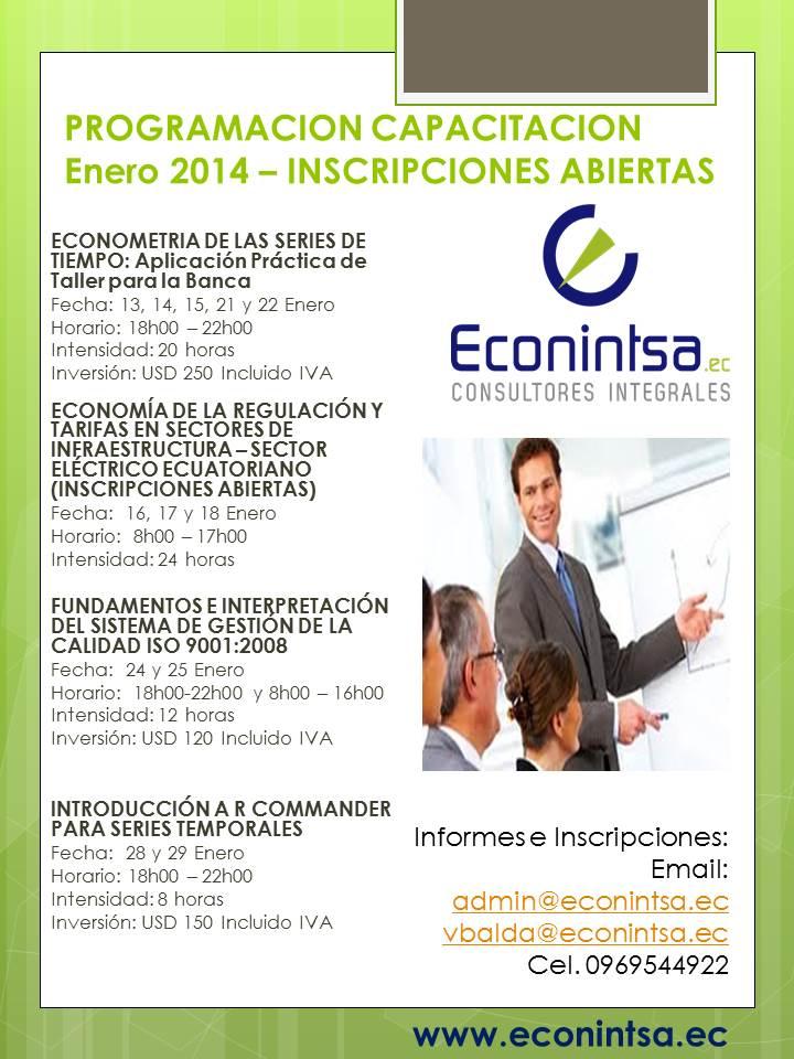 PROGRAMACION CAPACITACION ENERO 2014